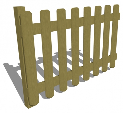 FS001 - Timber Fencing 1m (h)