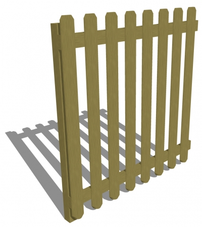 FS003 - Timber Fencing 1.5m (h)