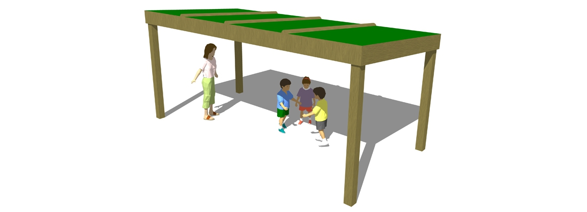 SH011 - Canopy Shelter (Green Board)
