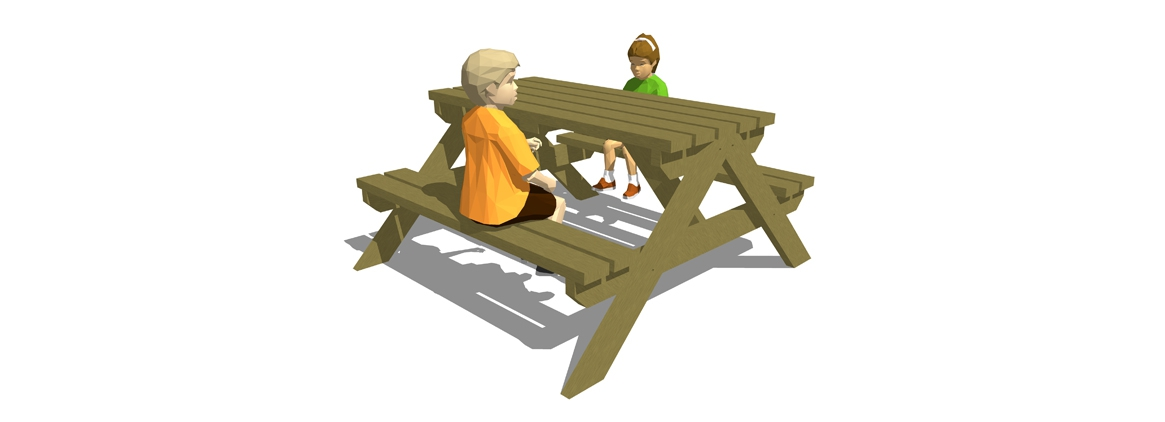 SP000 - 4 Seater Picnic Bench