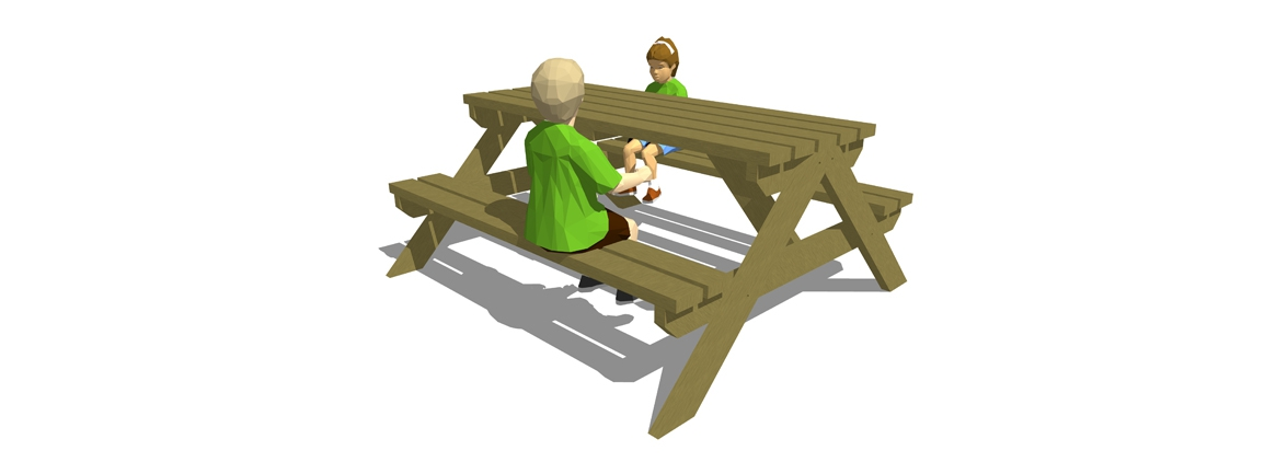 SP001 - 6 Seater Picnic Bench