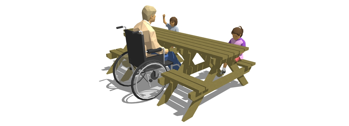SP003 - Special Access Picnic Bench