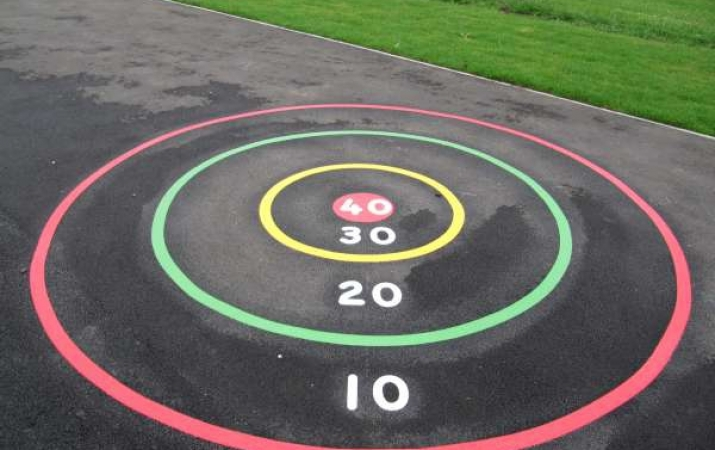 MS005 - Target Circle Marking - thermoplastic playground markings 3
