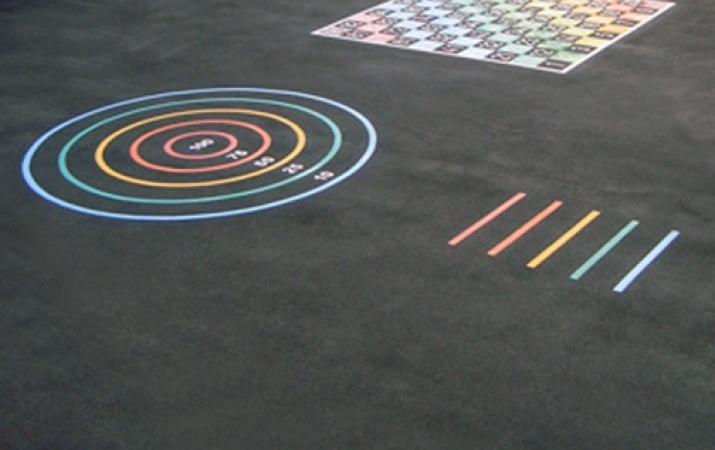 MS005 - Target Circle Marking - thermoplastic playground markings 2