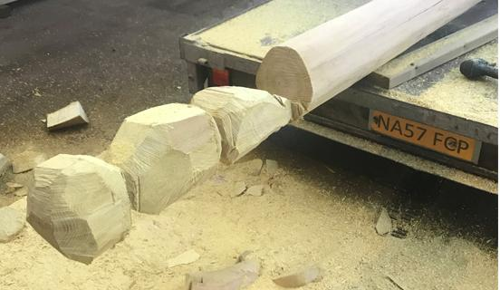 Carving Robinia Timber