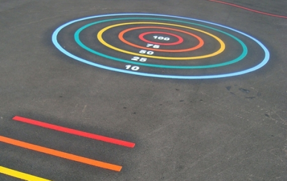 MS005 - Target Circle Marking - thermoplastic playground markings 1