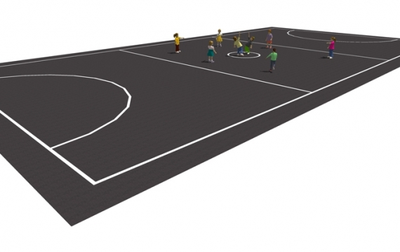 MS002 - Netball Court Markings - thermoplastic playground markings
